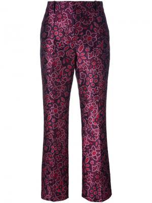 Жаккардовые брюки Lanvin. Цвет: розовый и фиолетовый