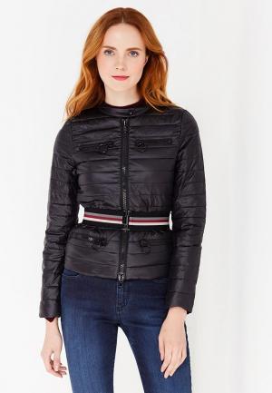 Куртка утепленная Sisley. Цвет: черный