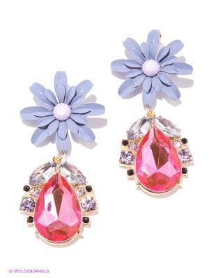 Серьги Milana Style. Цвет: сиреневый, розовый, золотистый