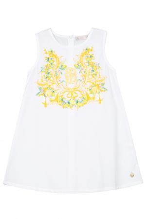 Платье STEFANIA. Цвет: белый