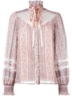 Блузка с узором пейсли Marc Jacobs. Цвет: розовый и фиолетовый
