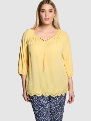 Блузка COUCHEL. Цвет: желтый