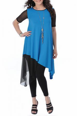 Платье VALERIA FRATTA. Цвет: blue