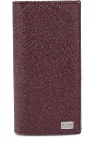 Кожаное портмоне с отделением для кредитный карт Dolce & Gabbana. Цвет: бордовый