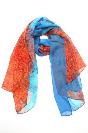 Палантин F.FRANTELLI. Цвет: терракотовый, синий