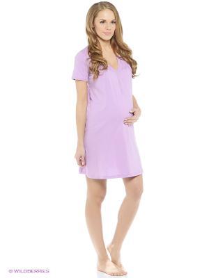 Ночная сорочка для беременных и кормящих ФЭСТ. Цвет: сиреневый