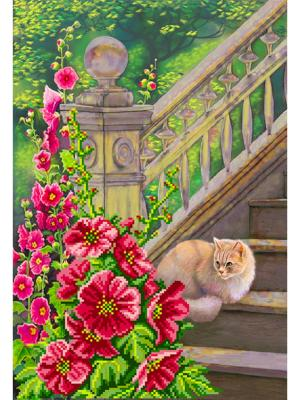 Рисунок на шелке Дачник Матренин Посад. Цвет: розовый, серый
