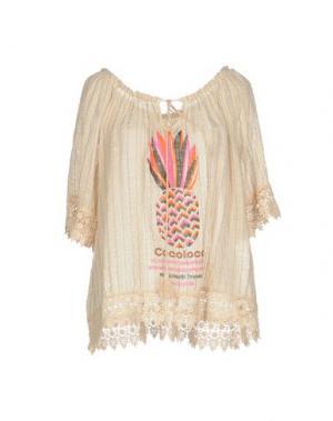 Блузка AU SOLEIL DE SAINT TROPEZ. Цвет: бежевый