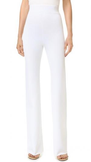 Трикотажные брюки с карманами Cushnie Et Ochs. Цвет: белый