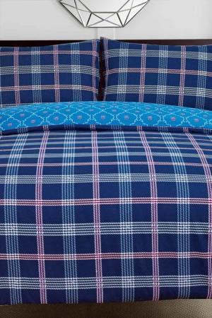 Постельное белье Дуэт, 50x70 СIOCCOLATO. Цвет: синий