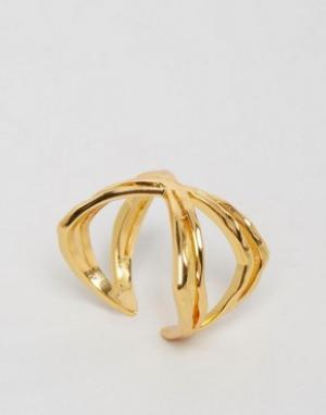 Gorjana Широкое кольцо Skyler. Цвет: золотой