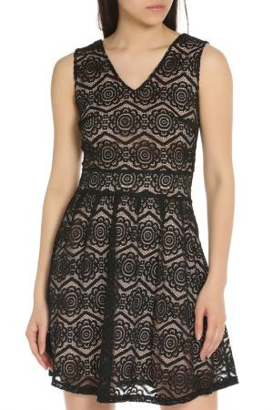 Летнее платье без рукавов YUMI. Цвет: black
