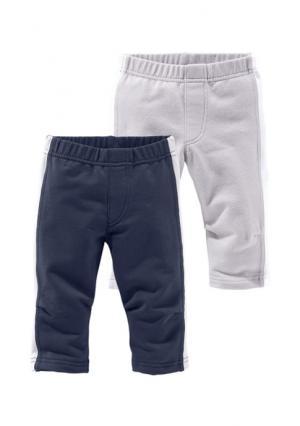 Спортивные брюки, 2 пары KLITZEKLEIN. Цвет: темно-синий + серый