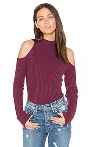 Свитер с открытыми плечами gianna 360 Sweater. Цвет: фиолетовый