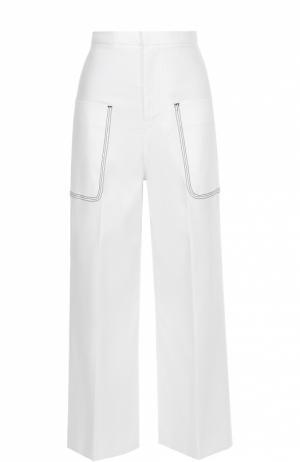Укороченные широкие брюки с накладными карманами Aquilano Rimondi. Цвет: белый