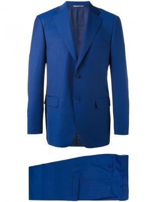 Формальный костюм-двойка Canali. Цвет: синий