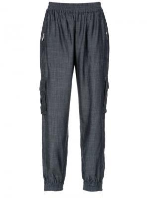Straight trousers Olympiah. Цвет: синий