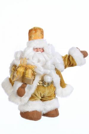 Дед мороз музыкальный, 32 см Davana. Цвет: золотой