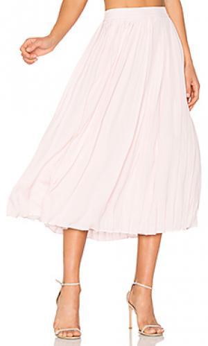 Плиссированная миди юбка ANINE BING. Цвет: розовый