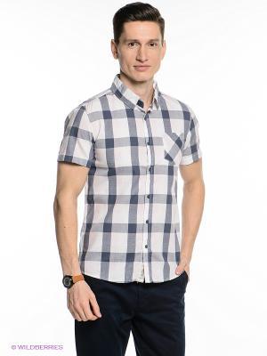 Рубашка Oodji. Цвет: серо-голубой, бледно-розовый