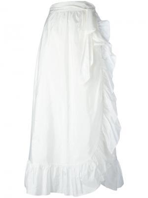 Юбка длины миди Alda Isabel Marant. Цвет: белый