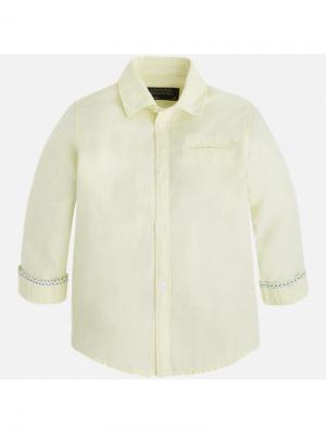 Рубашка Mayoral. Цвет: желтый
