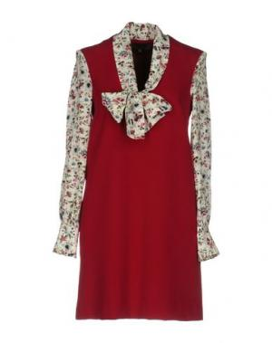 Короткое платье SPACE STYLE CONCEPT. Цвет: красно-коричневый