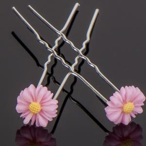 Шпилька для волос, арт. 05 095 Бусики-Колечки. Цвет: розовый