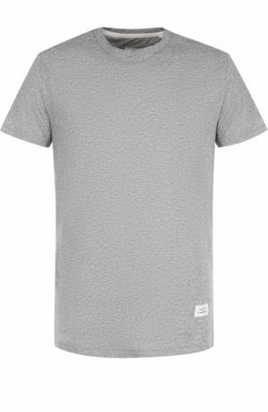 Хлопковая футболка с круглым вырезом Rag&Bone. Цвет: серый