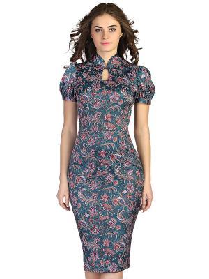 Платье OLIVEGREY. Цвет: зеленый, фиолетовый