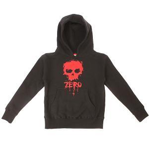 Толстовка кенгуру детская  Blood Skull Black Zero. Цвет: черный