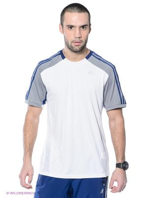 Футболка 365 TEE Adidas. Цвет: белый, серый