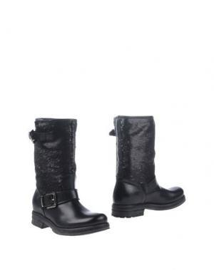 Полусапоги и высокие ботинки STELE. Цвет: черный