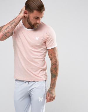 Good For Nothing Розовая обтягивающая футболка с контрастной отделкой. Цвет: розовый