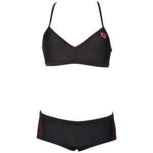 Купальник раздельный для занятий в бассейне ARENA. Цвет: черный/ белый,черный/ розовый