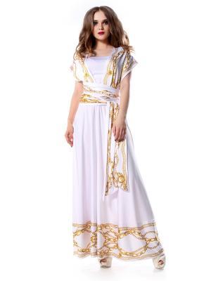 Платье-трансформер с оборкой Золотые Цепи длинное SEANNA