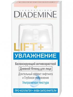Крем DIADEMINE LIFT+ Увлажнение Дневной Флюид. Цвет: белый,голубой,розовый