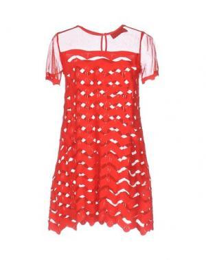 Короткое платье ANTONINO VALENTI. Цвет: красный