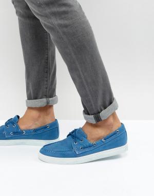 Armani Jeans Выбеленные синие парусиновые мокасины. Цвет: синий