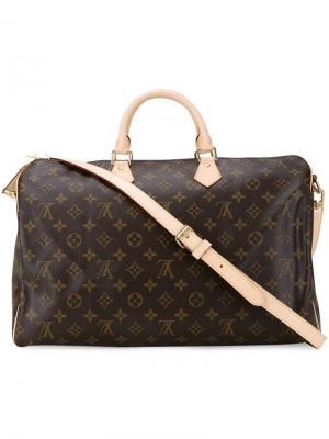 Монограммная дорожная сумка Louis Vuitton Vintage. Цвет: коричневый