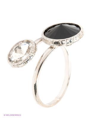 Кольцо NAVELL. Цвет: черный, серебристый, белый