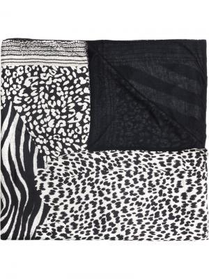 Шарф с леопардовым принтом Pierre-Louis Mascia. Цвет: многоцветный