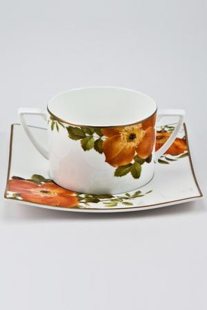 Бульонная пара Royal Porcelain. Цвет: белый, черный, оранжевый