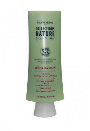 Маска-крем несмываемая интенсивно-питательная для повреждённых волос Eugene perma. Цвет: зеленый