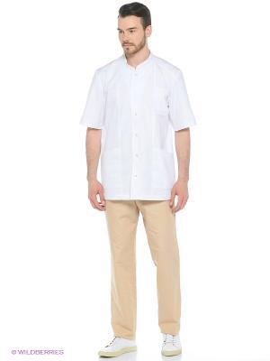 Рубашка медицинская Med Fashion Lab. Цвет: белый