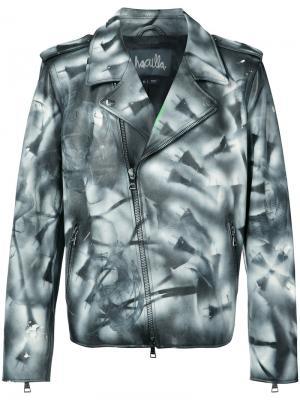 Куртка ручной раскраски Haculla. Цвет: чёрный