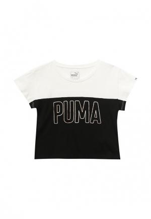 Футболка Puma. Цвет: черно-белый