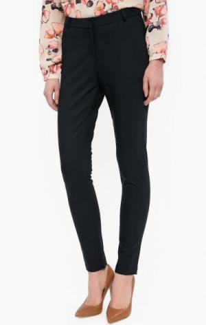Трикотажные зауженные брюки LERROS. Цвет: синий