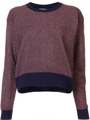 Metallic knit Palm sweater Tanya Taylor. Цвет: коричневый