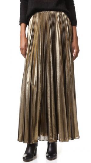 Плиссированная макси-юбка BCBGMAXAZRIA. Цвет: серый